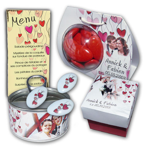 Collection coeur rouge
