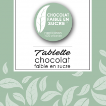 Tablette chocolat faible en sucre